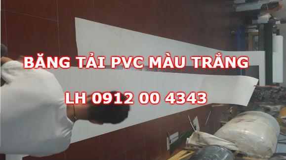 Băng tải PVC màu trắng
