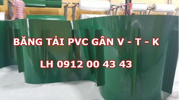 Băng tải PVC gân V